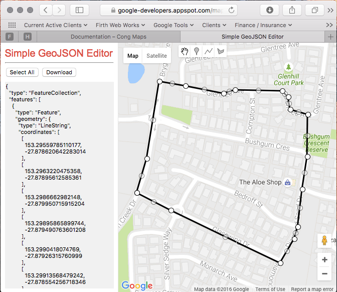 Simple GeoJson Editor